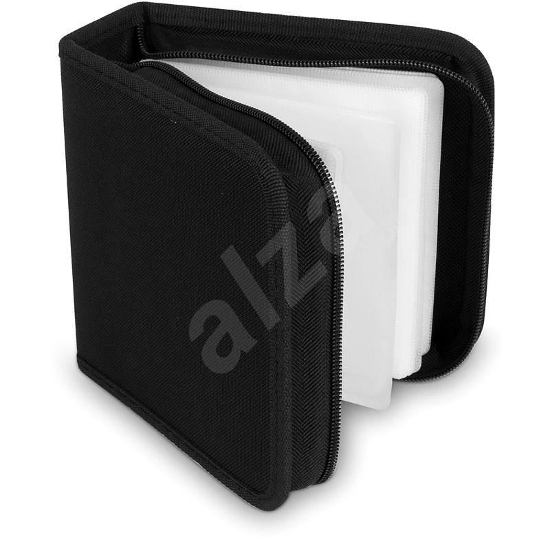 COVER IT pouzdro na 48 CD/DVD zapínací černé - Puzdro na CD/DVD