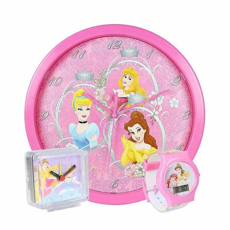 Disney súprava 3 v 1 Princezny - Hodiny do detskej izby