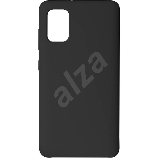 Hishell Premium Liquid Silicone pre Samsung Galaxy A41 čierny - Kryt na mobil