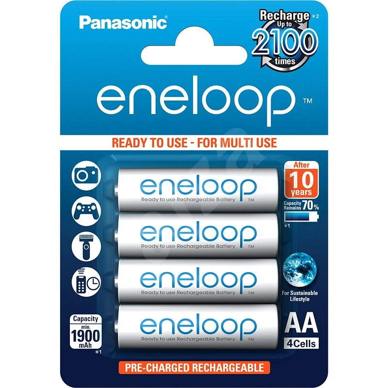 Panasonic eneloop AA 1 900 mAh 4 ks - Nabíjateľná batéria