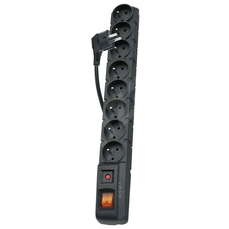 EMOS 8x zásuvka 1.5m, čierna - Prepäťová ochrana