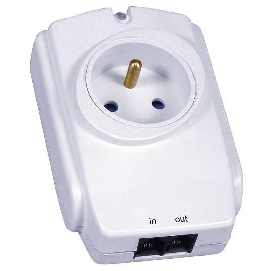 EMOS 1x zásuvka, biela - Prepäťová ochrana