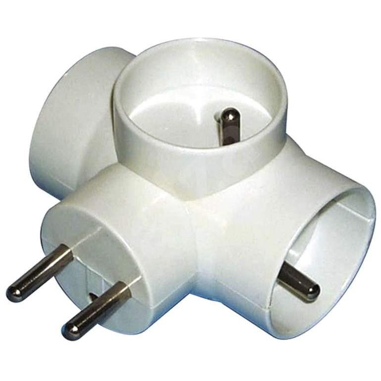 EMOS 3× okrúhly, biely - Rozbočovač