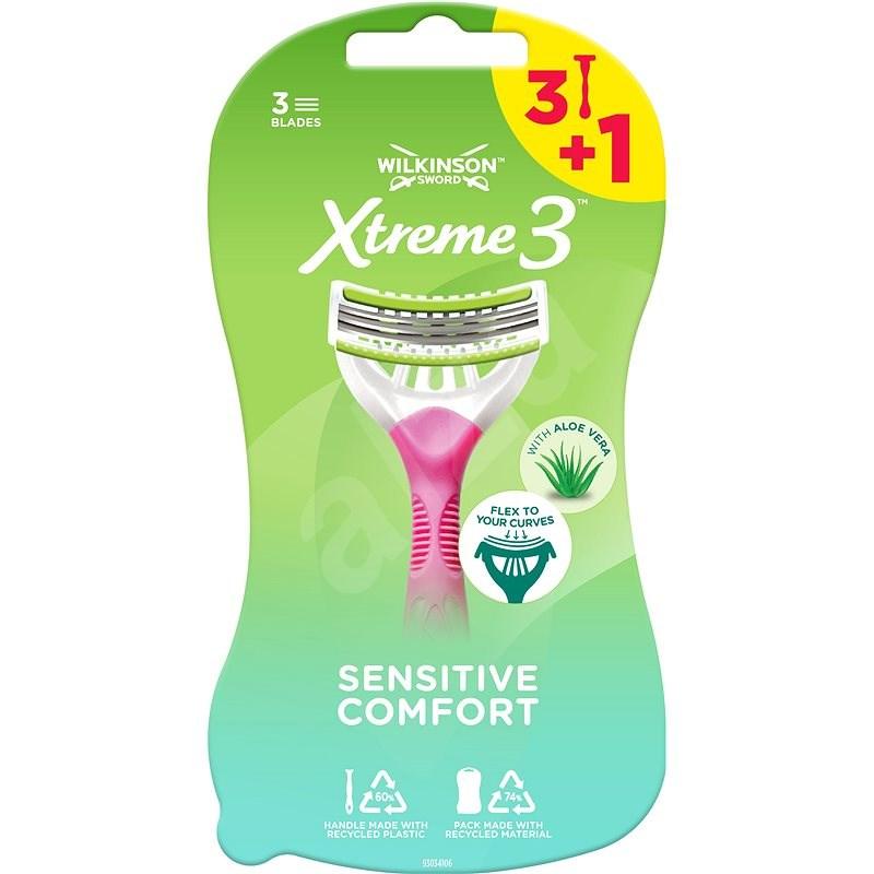 WILKINSON Xtreme3 Beauty Sensitive 3 + 1 ks - Dámske holiace strojčeky