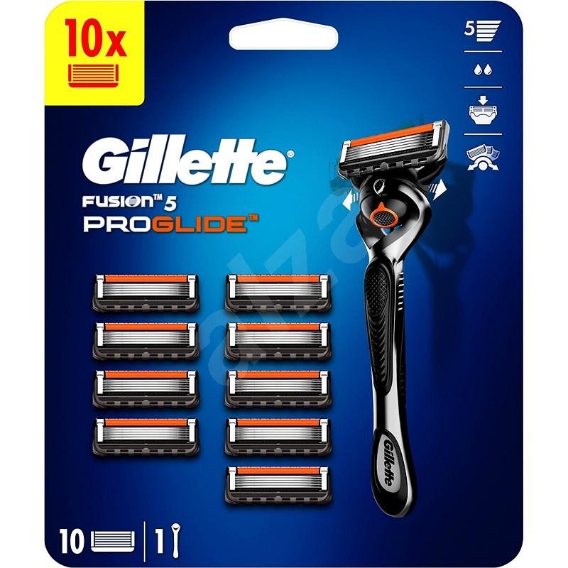 GILLETTE Fusion ProGlide + hlavica 10 ks - Holiaci strojček
