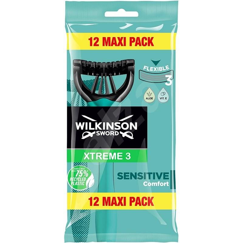 WILKINSON Xtreme3 Sensitive Pure 12 ks - Jednorazové holiace strojčeky