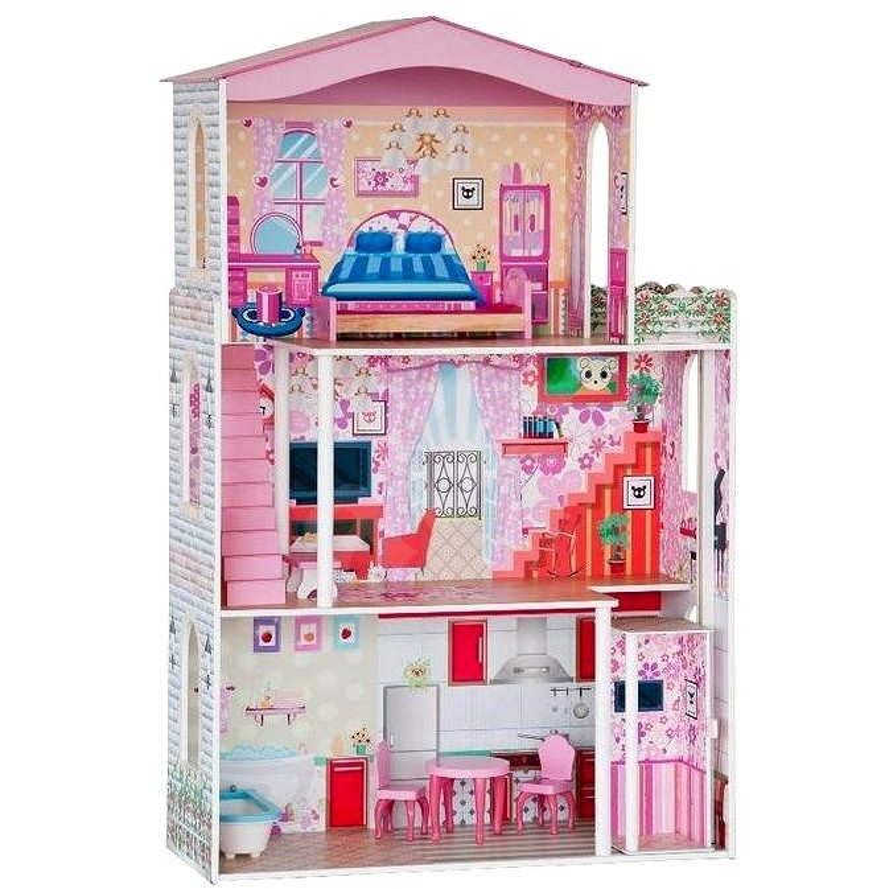 Domček pre bábiky s nábytkom - Domček pre bábiky