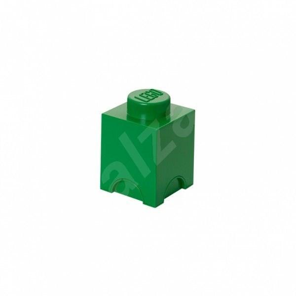 LEGO Úložný box 125 x 127 x 180 mm - tmavo- zelený - Úložný box