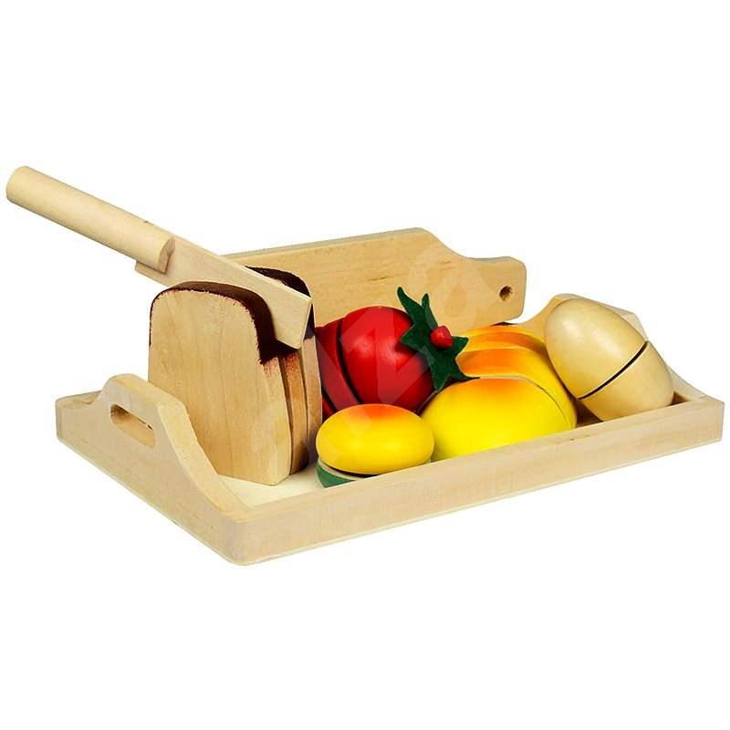 Drevené potraviny - Raňajky - Herná sada
