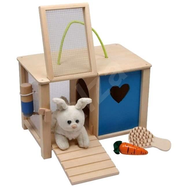 Plyšový králik v králikárni s doplnkami - Herná sada