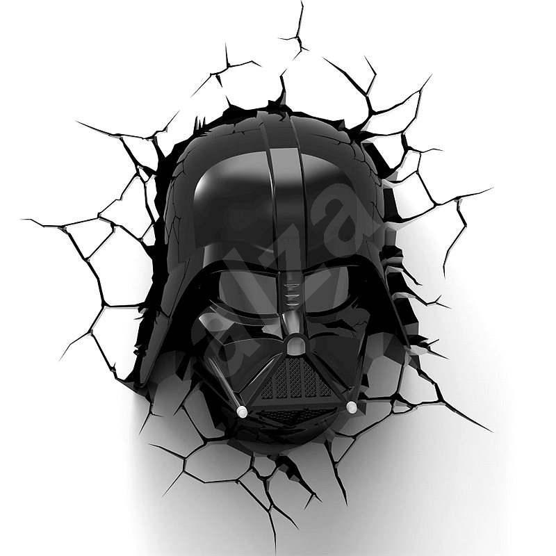 3D Svetlo Star Wars Darth Vaderova helma - Osvetlenie do detskej izby