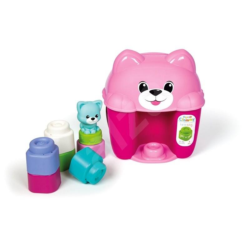 Clementoni Clemmy baby - kýblik s kockami mačička - Hračka pre najmenších