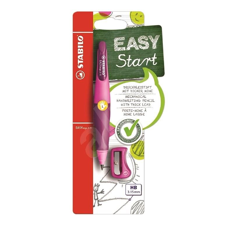 STABILO EASYergo 3,15 mm L, ružová/fialová + strúhadlo - Grafitová ceruzka