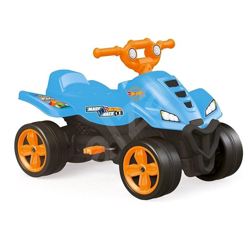 Hot Wheels Detská šliapacia štvorkolka modrá - Šliapacia štvorkolka