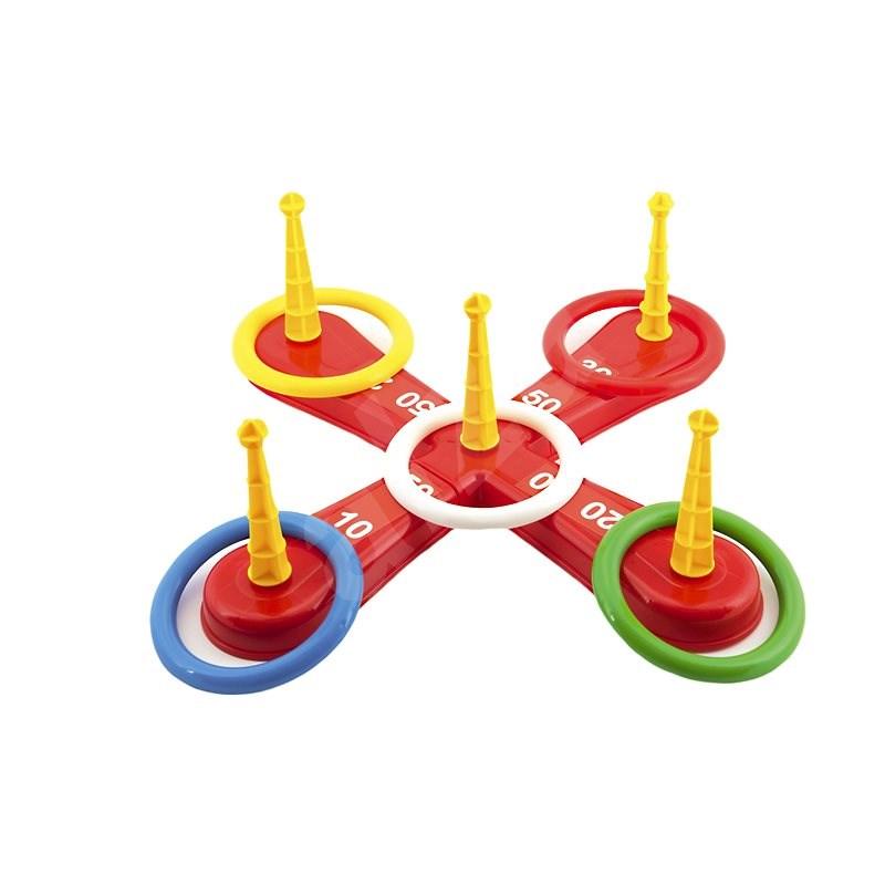 Hádzacia hra kríž s kruhmi - Hra na záhradu