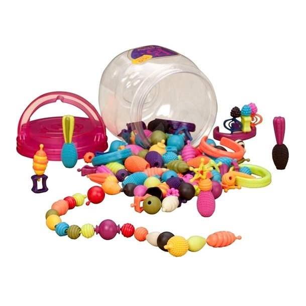 B-Toys Spájacie koráliky a tvary Pop Arty 150 ks - Koráliky