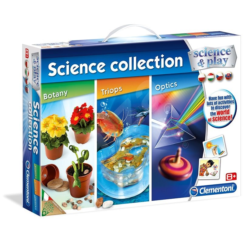 Clementoni Botanika, optika a triopy 3 v 1 - Vyrábanie pre deti