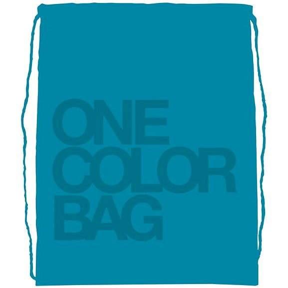 Študentský vak One Color tyrkysový - Vrecko na prezuvky