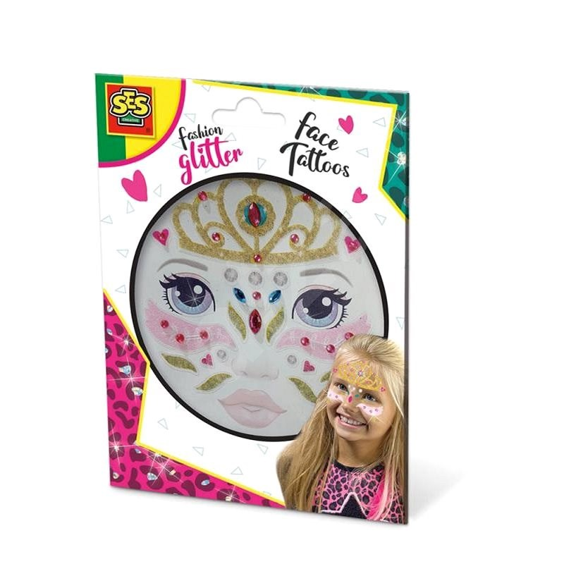 SES Trblietavé tetovanie na tvár – princezná - Kreatívna súprava