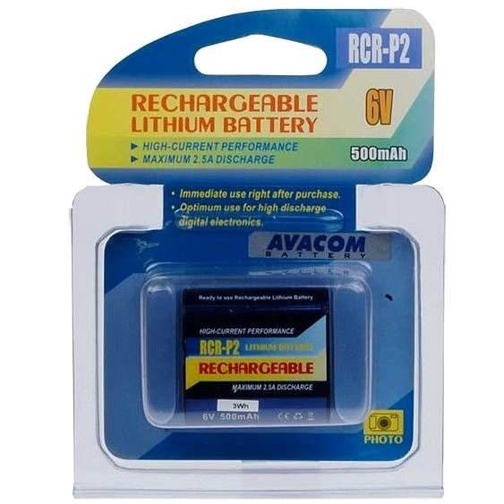 AVACOM za CR-P2 pon. lítium 6 V, 500 mAh, čierna - Batéria do fotoaparátu