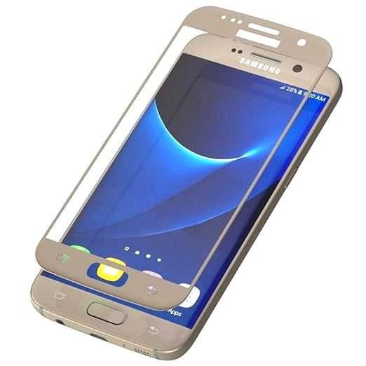 ZAGG invisibleSHIELD Glass Contour Samsung Galaxy S7 zlatý - Ochranné sklo
