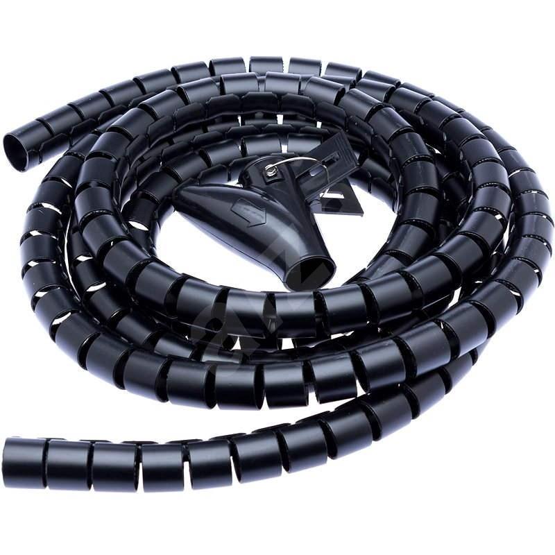 CONNECT IT CableFit WINDER 2.5m čierna - Organizér káblov