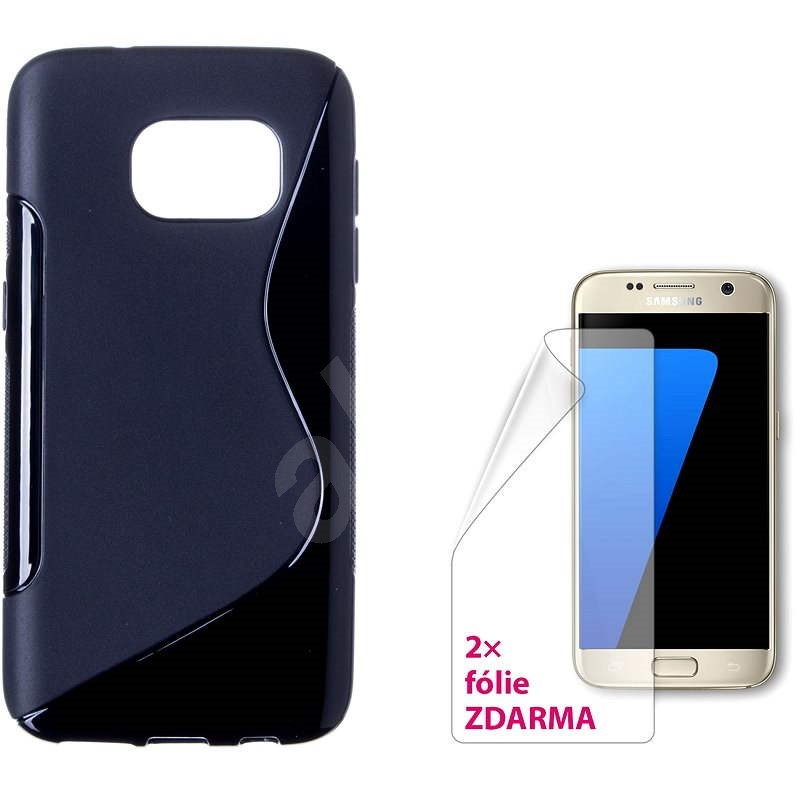 CONNECT IT S-Cover Samsung Galaxy S7 čierne - Ochranný kryt