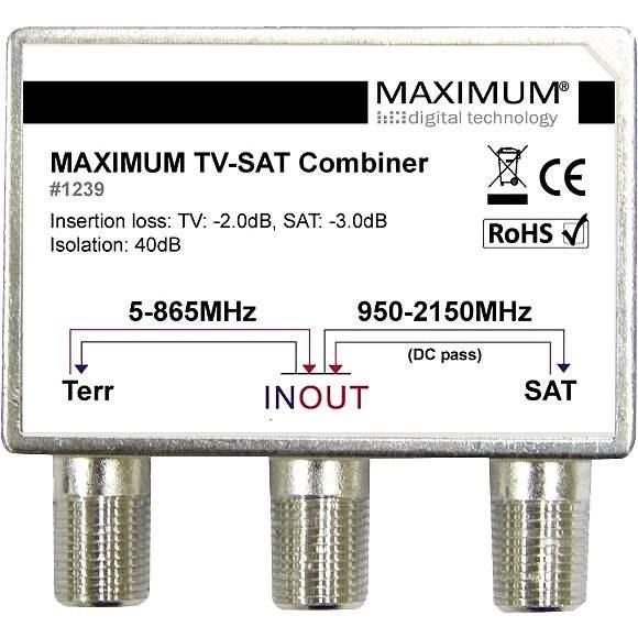 Maximum TV-SAT Combiner HIGH ISO - Zlučovač