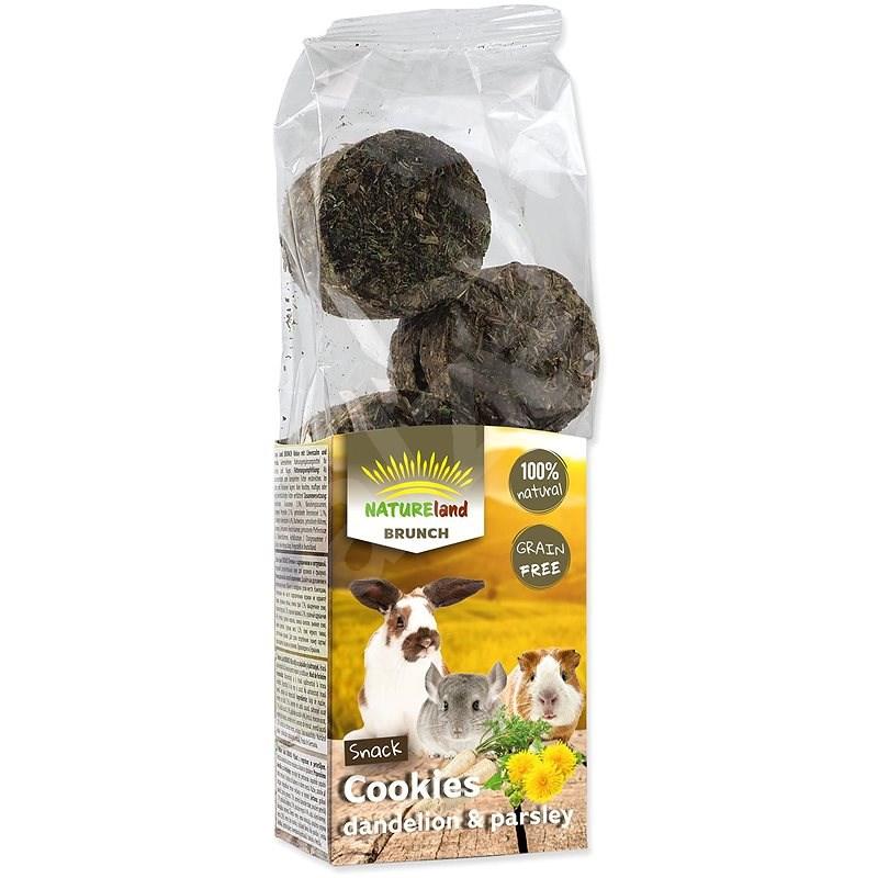 Nature Land Brunch Pochúťka sušienky s púpavou a petržlenom 120 g - Maškrty pre hlodavce