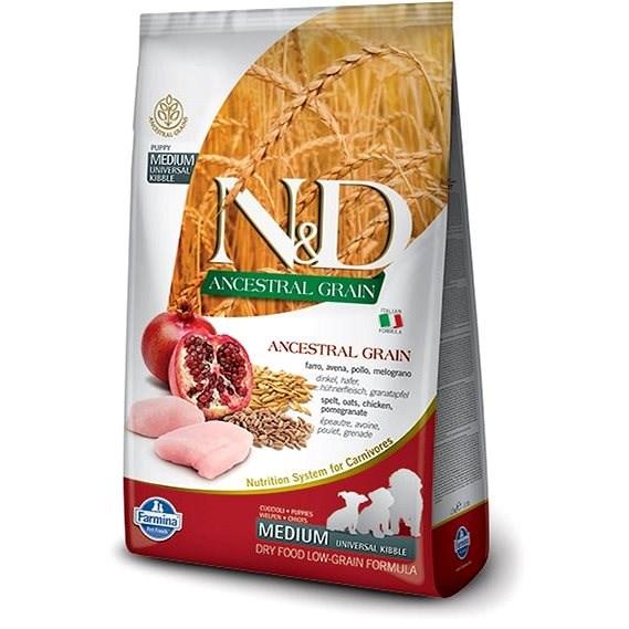 N&D low grain DOG Puppy M/L Chicken & Pomegranate 2,5 kg - Granuly pre šteniatka