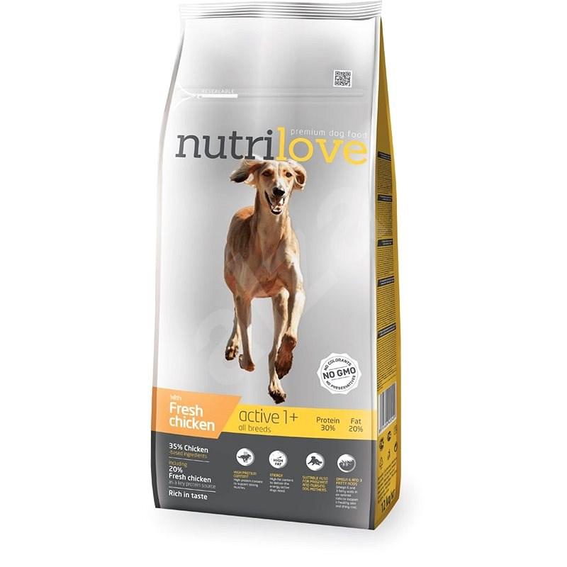 Nutrilove ACTIVE fresh chicken 12 kg - Granuly pre psov