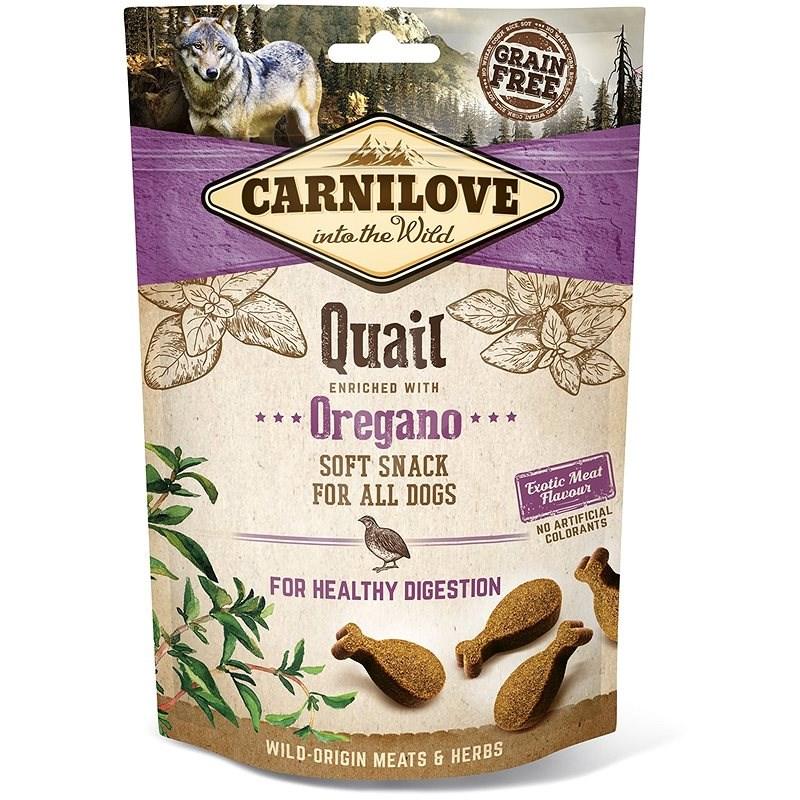 Carnilove dog semi moist snack quail enriched with oregano 200 g - Maškrty pre psov