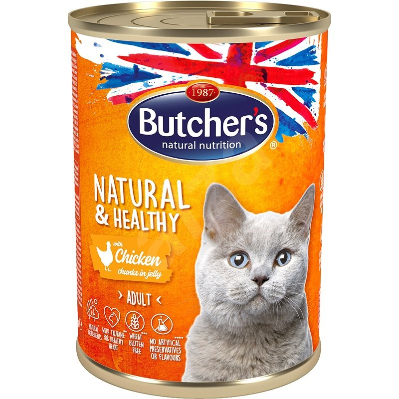 Butcher's Classic - Konzerva s kuracím mäsom, 400 g - Konzerva pre mačky