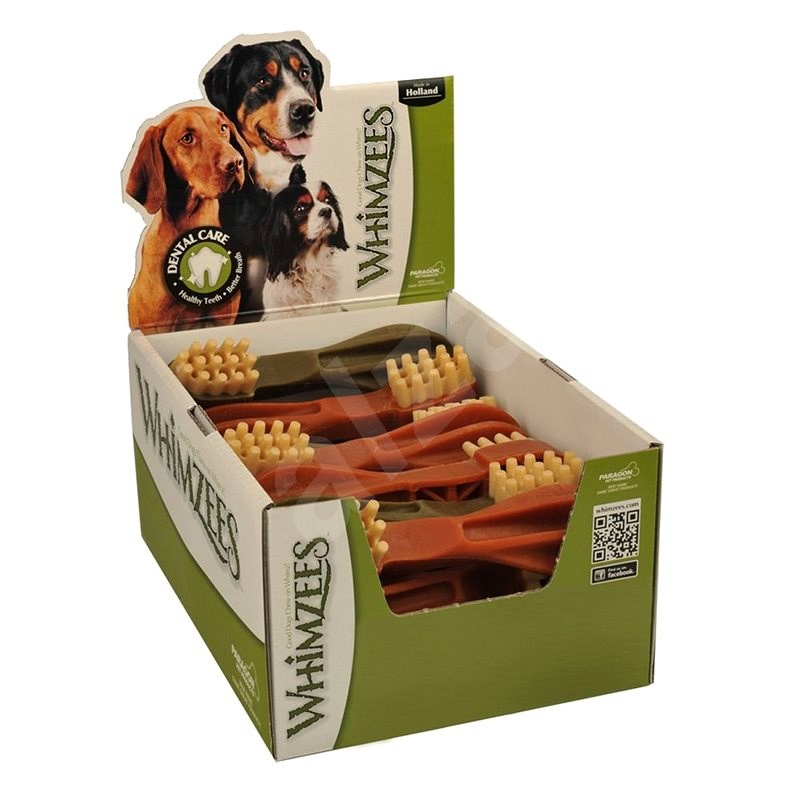 Whimzees Dental zubná kefka pre psa XL 120g, 18ks v balení - Maškrty pre psov