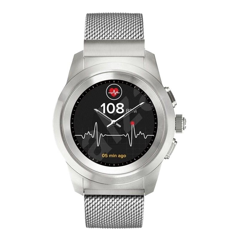 MyKronoz ZeTime Elite Brushed Silver Milan - 44 mm - Smart hodinky