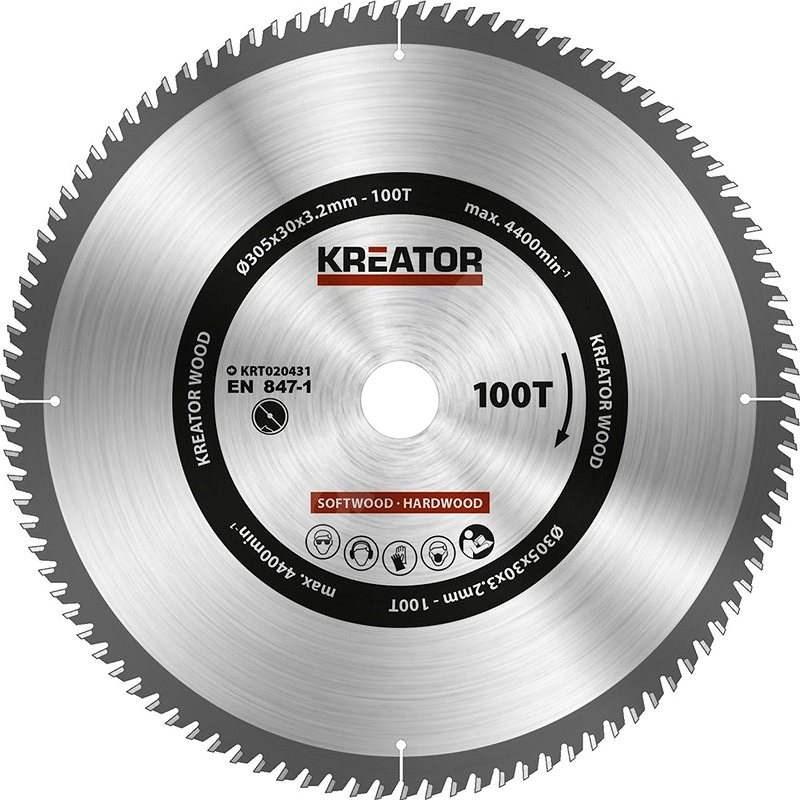 Kreator KRT020431, 305 mm - Pílový kotúč na drevo