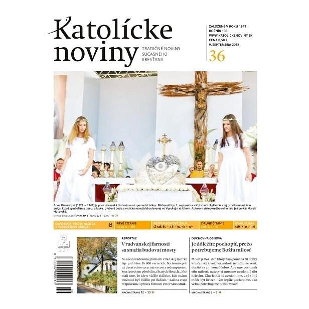 Katolícke noviny - 36/2018 - Elektronické noviny