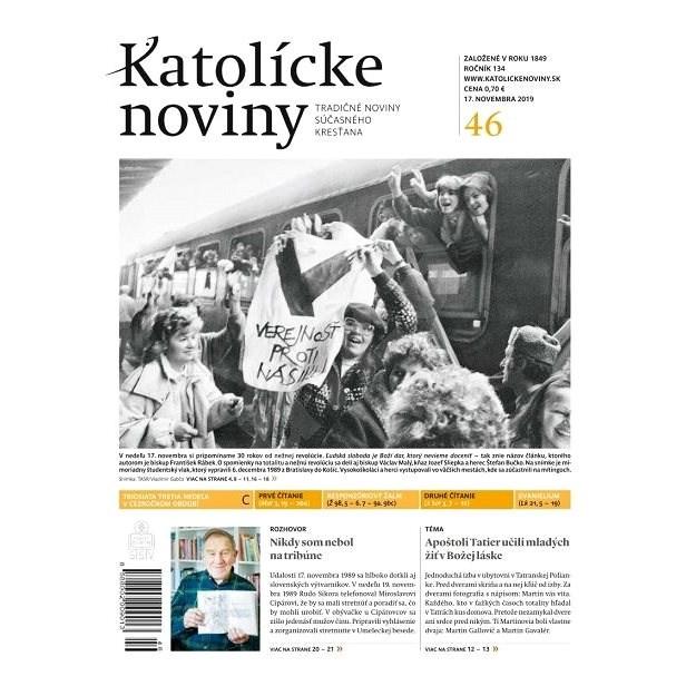 Katolícke noviny - 46/2019 - Elektronický časopis