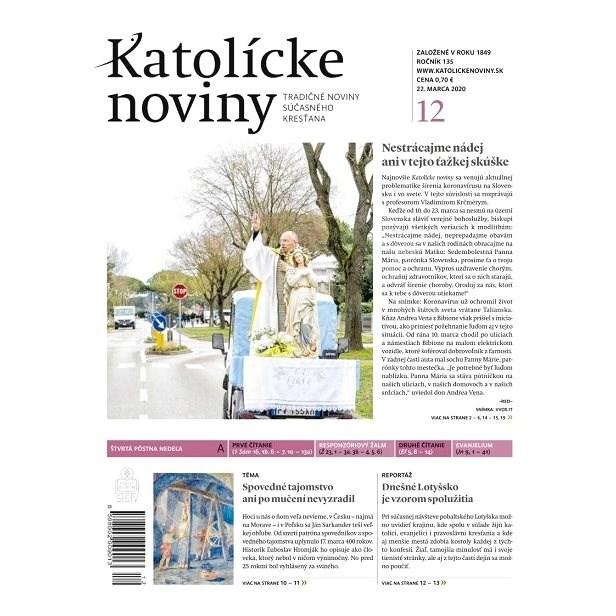 Katolícke noviny - 12/2020 - Elektronický časopis