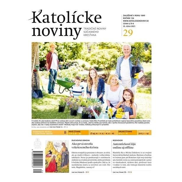 Katolícke noviny - 29/2021 - Elektronické noviny