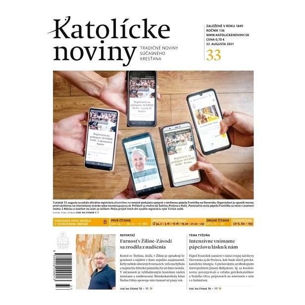 Katolícke noviny - 33/2021 - Elektronické noviny