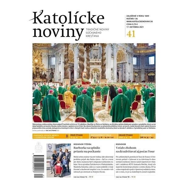 Katolícke noviny - 41/2021 - Elektronické noviny
