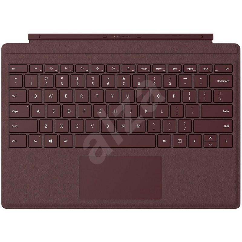Microsoft Surface Pro Type Cover Burgundy - Klávesnica