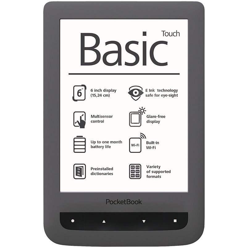 PocketBook 624 Basic Touch sivý - Elektronická čítačka kníh