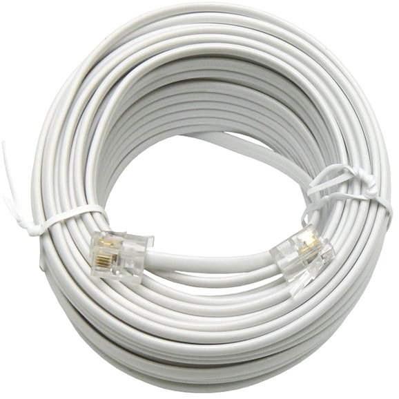 OEM telefónny s konektormi RJ12, 15m - Telefónny kábel