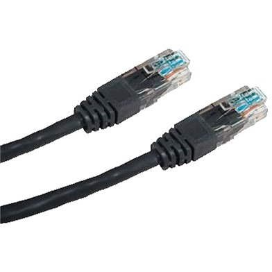 Datacom CAT5E UTP čierny 7 m - Sieťový kábel