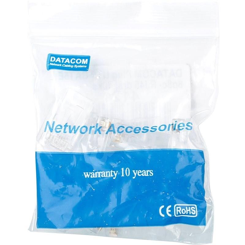 10-pack, Datacom, RJ45, CAT5E, UTP, 8p8c, na drôt - Konektor