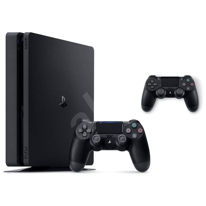 PlayStation 4 Slim 500 GB + 2× DualShock 4 - Herná konzola