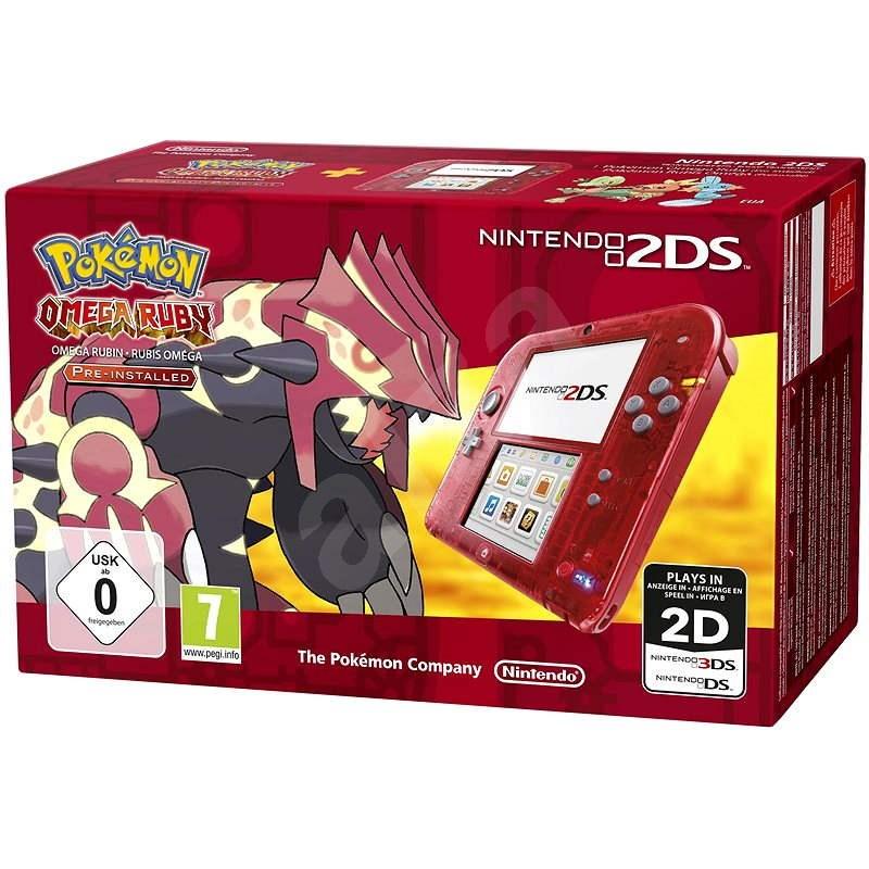 Nintendo 2DS Transparent Red + Pokémon Omega Ruby - Herná konzola