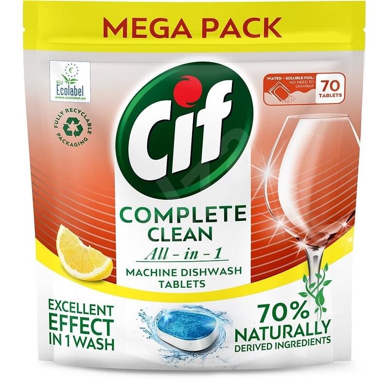 CIF All in 1 Lemon 70 % Naturally 70 ks - Ekologické tablety do umývačky